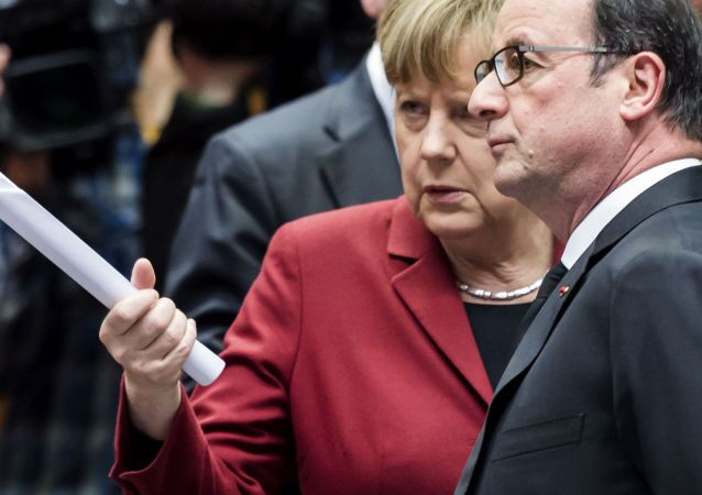 Angela Merkel e Francois Hollande