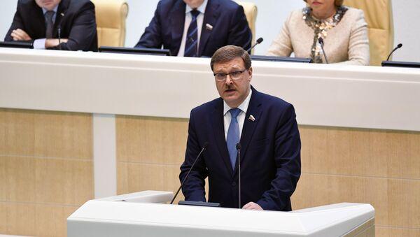 Presidente della commissione Esteri del Consiglio della Federazione Konstantin Kosachev - Sputnik Italia