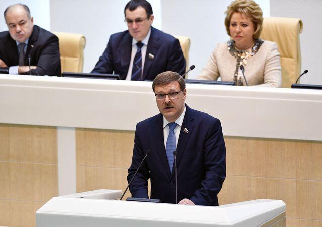 Presidente della commissione Esteri del Consiglio della Federazione Konstantin Kosachev