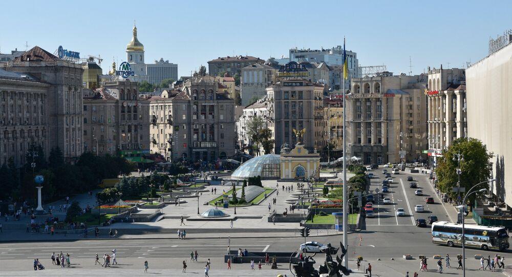 Piazza dell'Indipendenza a Kiev.