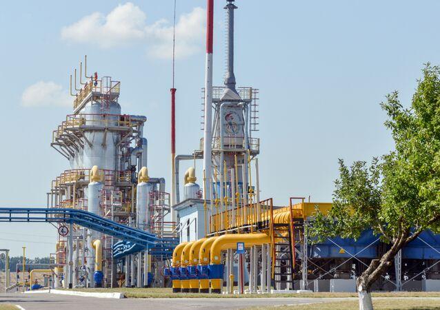 Una stazione di compressione del gas in Ucraina.