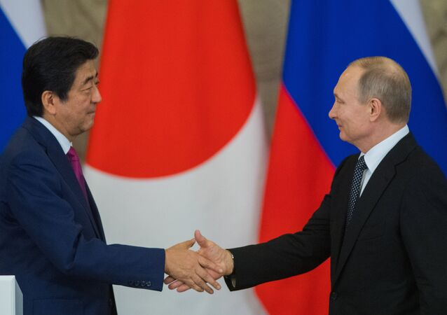 L'incontro tra Vladimir Putin e Shinzo Abe