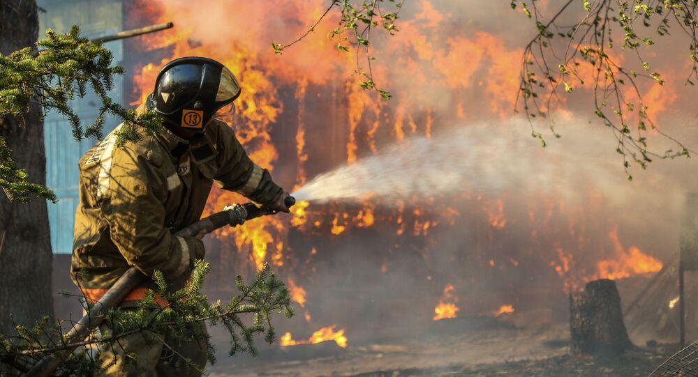 Incendio boschivo, Russia