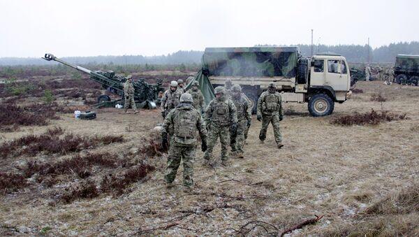 Soldati NATO in Lettonia - Sputnik Italia
