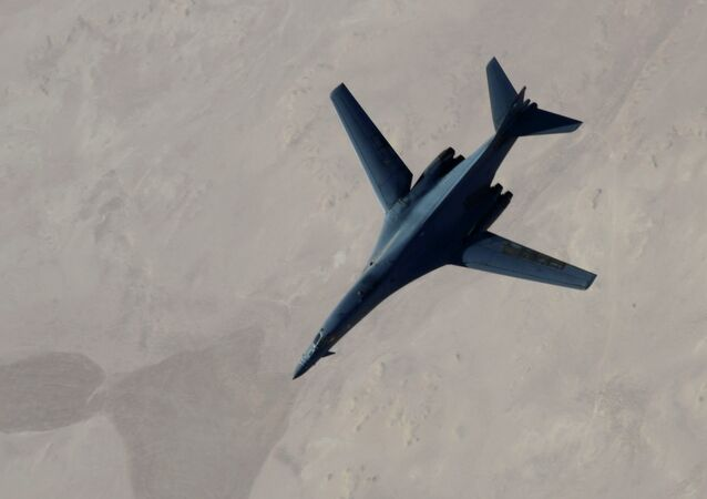 Bombardiere strategico Usa B-1B Lancer (foto d'archivio)