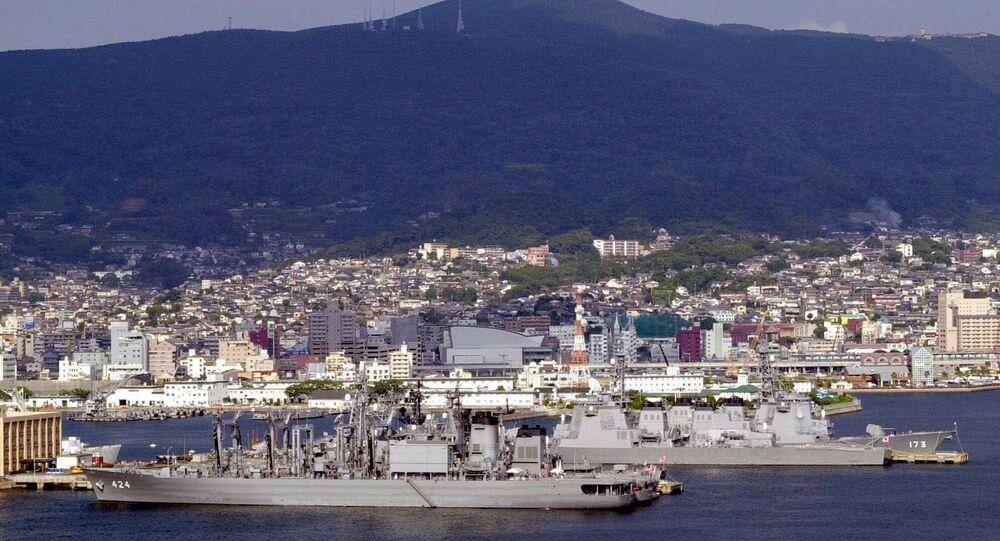 La base navale di Sasebo. (Foto d'archivio)
