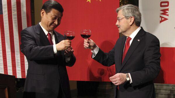 Xi Jinping e Terry Branstad (foto d'archivio) - Sputnik Italia