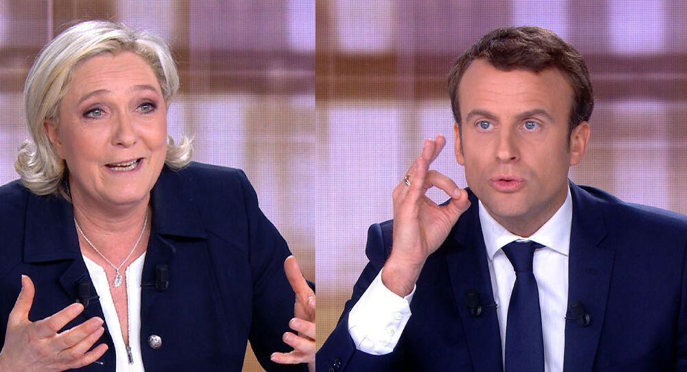 Marine Le Pen ed Emmanuel Macron (foto d'archivio)