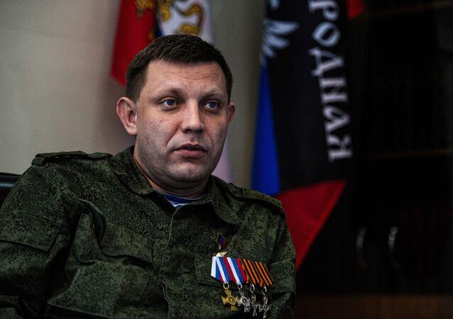 Leader filorusso di Donetsk Alexander Zakharchenko