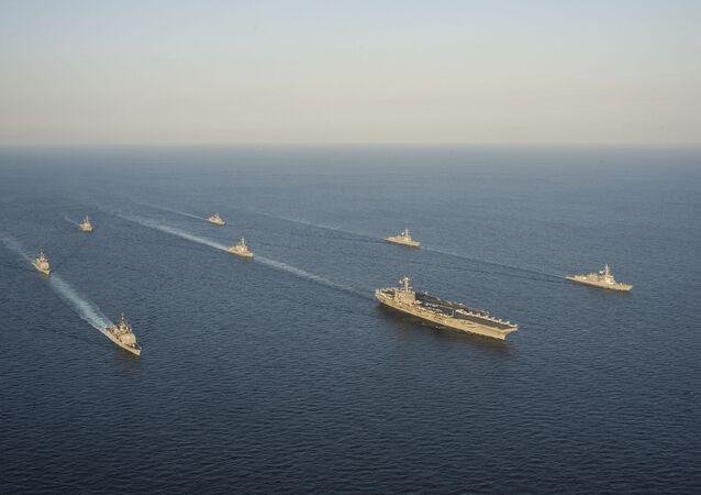 Flotta degli Stati Uniti e alleati nella regione Asia-Pacifico
