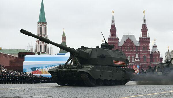 Самоходные гаубицы Коалиция-СВ на военном параде на Красной площади - Sputnik Italia