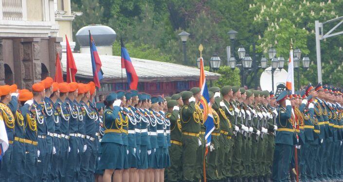 Donetsk, parata del Giorno della Vittoria