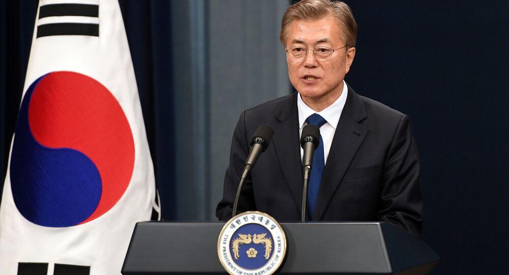 Il presidente della Corea del Sud Moon Jae-in