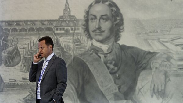 Участник в Экспофоруме на XX Петербургском международном экономическом форуме - Sputnik Italia