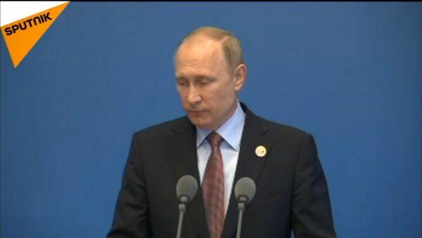 L'intervento di Vladimir Putin al forum Una cintura una strada a Pechino - Sputnik Italia