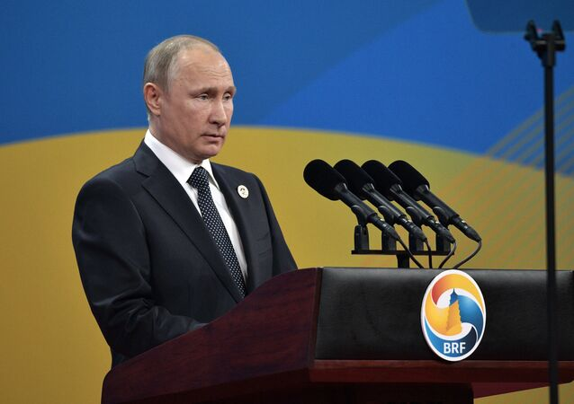 Vladimir Putin al forum internazionale di cooperazione strategica in Cina