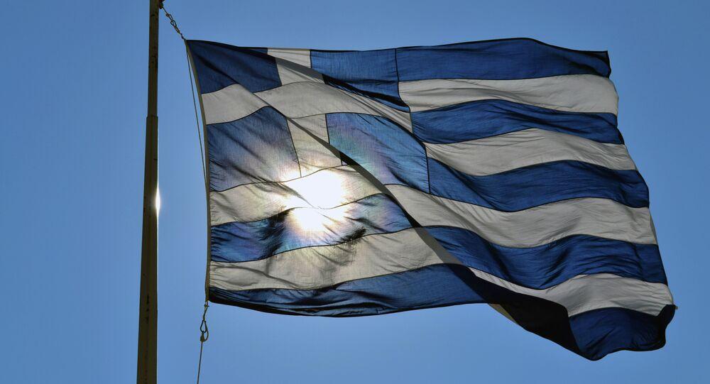 Una bandiera greca