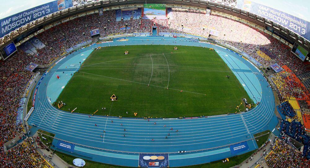 Lo stadio Luzhniki di Mosca, che ha ospitato i Mondiali di Atletica del 2013