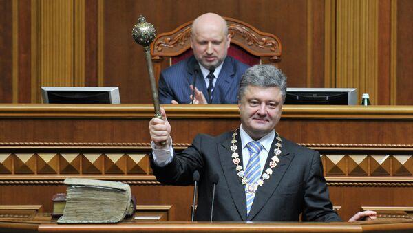 Petr Poroshenko il giorno dell'insediamento - Sputnik Italia