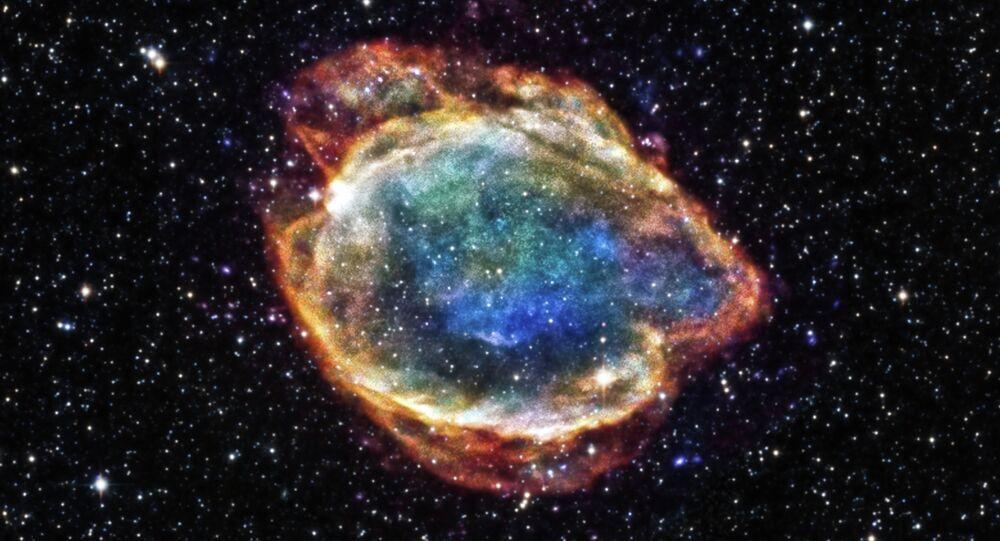 I resti dell'esplosione di una supernova