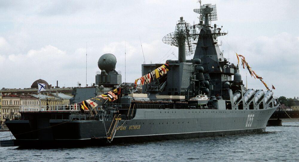 Incrociatore missilistico Marshal Ustinov (foto d'archivio)