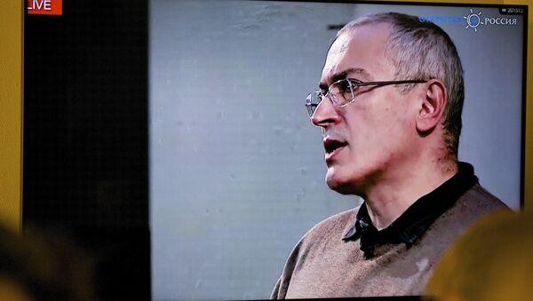 Mikhail Khodorkovsky parla alla conferenza web a Londra - Sputnik Italia