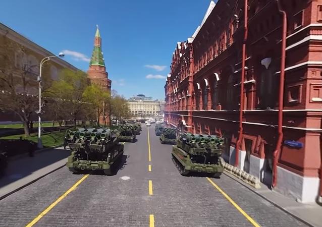 Le prove della Parata della Vittoria 2017 a 360°
