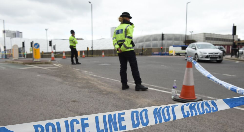 A police cordon surrounds Manchester Arena in Manchester, northwest England following the deadly terror attacks on May 23, 2017.