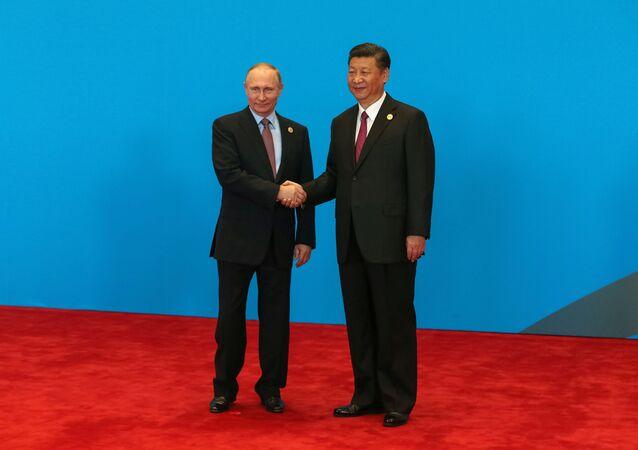 Xi Jinping a Vladimir Putin a Pechino (foto d'archivio)