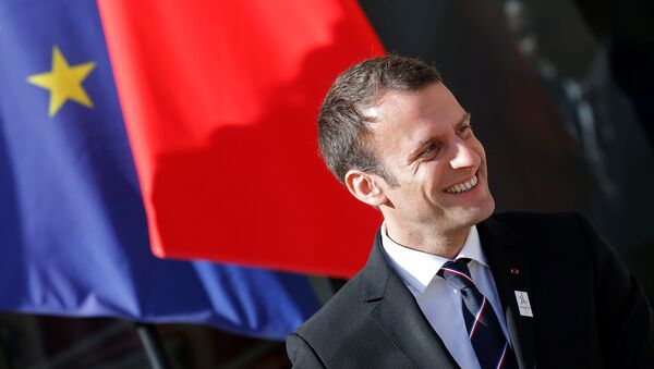 French President Emmanuel Macron reacts after a meeting with the International Olympic Committee (IOC) Evaluation Commission at the Elysee Place in Paris, France May 16, 2017. - Sputnik Italia