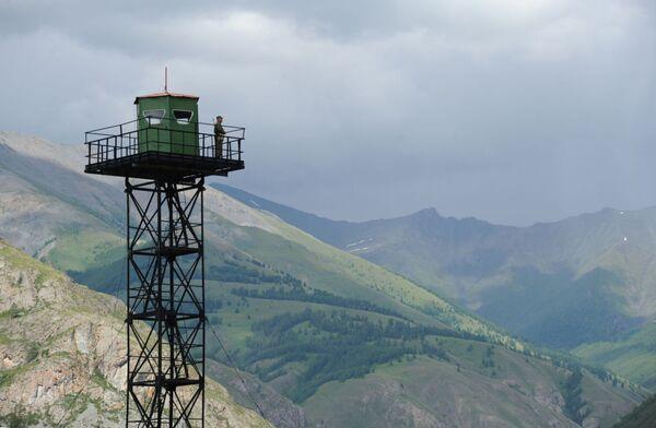 Un posto di frontiera nella Repubblica dell'Altaj. - Sputnik Italia