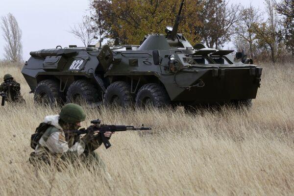 Le esercitazioni della guardia di frontiera in Crimea. - Sputnik Italia