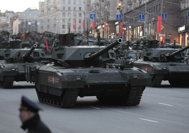 T-14 tanks with the Armata Universal Combat Platforms