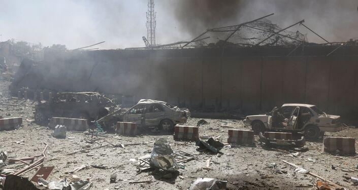 L'attentato suicida a Kabul, Afghanistan.