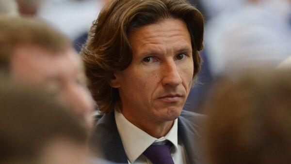Alexey Smertin, l'ambasciatore dei Mondiali di calcio 2018 e il comissario della Federazione calcistica della Russia per la lotta contro il razzismo e la discriminazione - Sputnik Italia