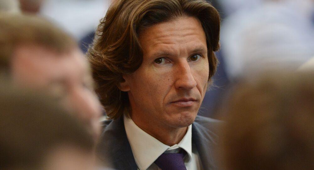 Alexey Smertin, l'ambasciatore dei Mondiali di calcio 2018 e il comissario della Federazione calcistica della Russia per la lotta contro il razzismo e la discriminazione