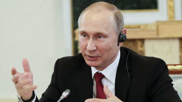 Russian President Vladimir Putin speaks during a meeting with representatives of international news agencies in St. Petersburg, Russia, June 1, 2017. - Sputnik Italia
