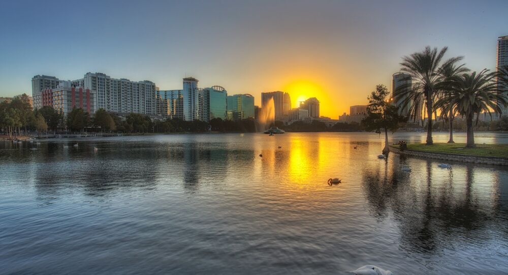 Lake Eola Sunset, Orlando, Florida