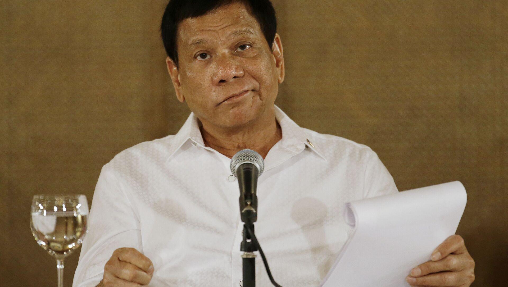 Il presidente filippino Rodrigo Duterte - Sputnik Italia, 1920, 14.05.2021