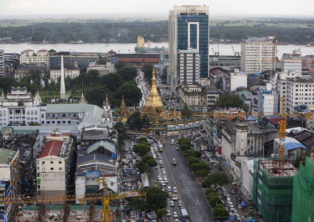 Città di Yangon, Myanmar (foto d'archivio)