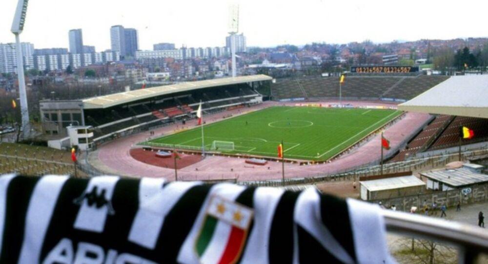 Lo stadio Heysel di Bruxelles, dove si giocò la finale di Coppa Campioni del 1985