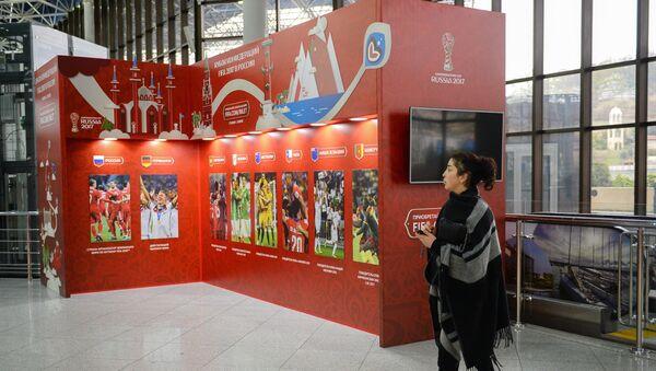 Stand della Confederations Cup all'aeroporto internazionale di Sochi - Sputnik Italia