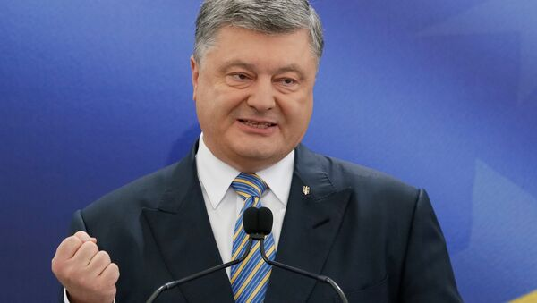 Ukrainian President Petro Poroshenko speaks during a news conference in Kiev, Ukraine May 14, 2017 - Sputnik Italia