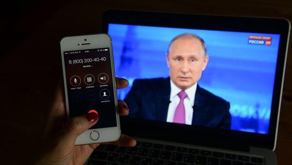 Broadcast of Direct Line with Vladimir Putin - Sputnik Italia