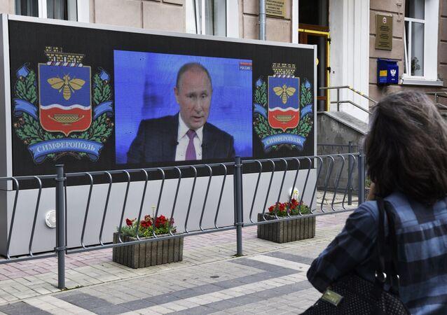 La Linea Diretta del presidente Vladimir Putin