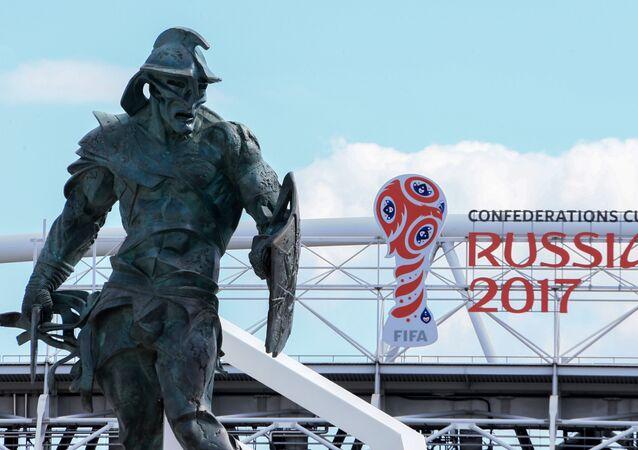 Lo stadio dello Spartak Mosca, che ospiterà 4 partite della Confederations Cup
