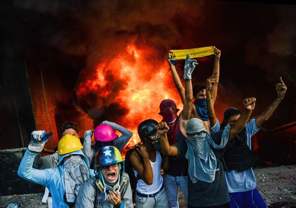 Una manifestazione antigovernativa a Caracas. - Sputnik Italia