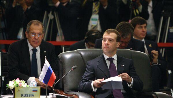 Sergei Lavrov e Dmitry Medvedev. - Sputnik Italia