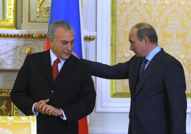 Vladimir Putin e Michel Temer