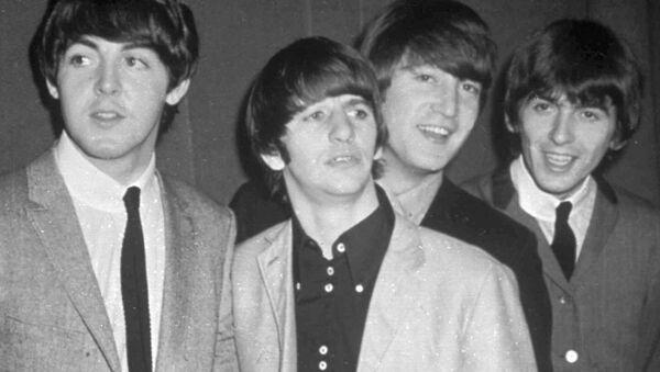 The Beatles, from left, Paul McCartney, Ringo Starr, John Lennon and George Harrison, are shown in this November 1963 photo. - Sputnik Italia